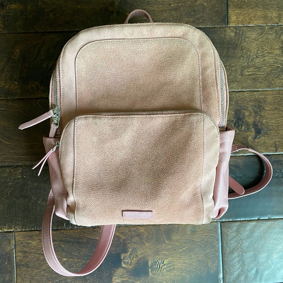 Vera Bradley Leather Carryall Backpack in Rose
